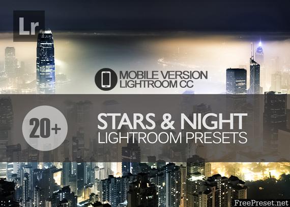 20+ Stars and Night Sky Lightroom Mobile bundle