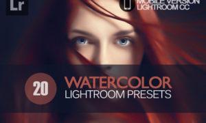 20 Watercolor Lightroom Mobile bundle