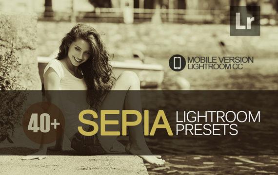 40+ Sepia Lightroom Mobile bundle