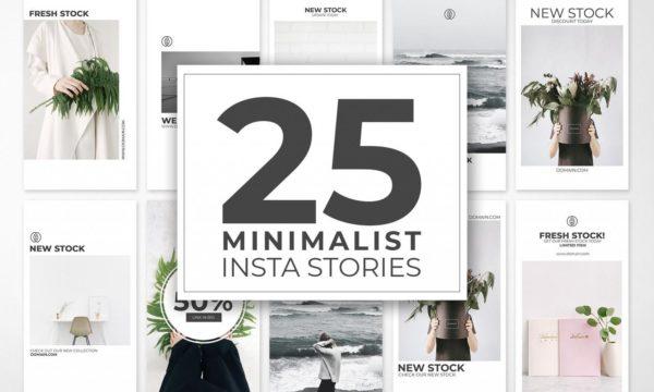 25 Minimal Instagram Stories Template