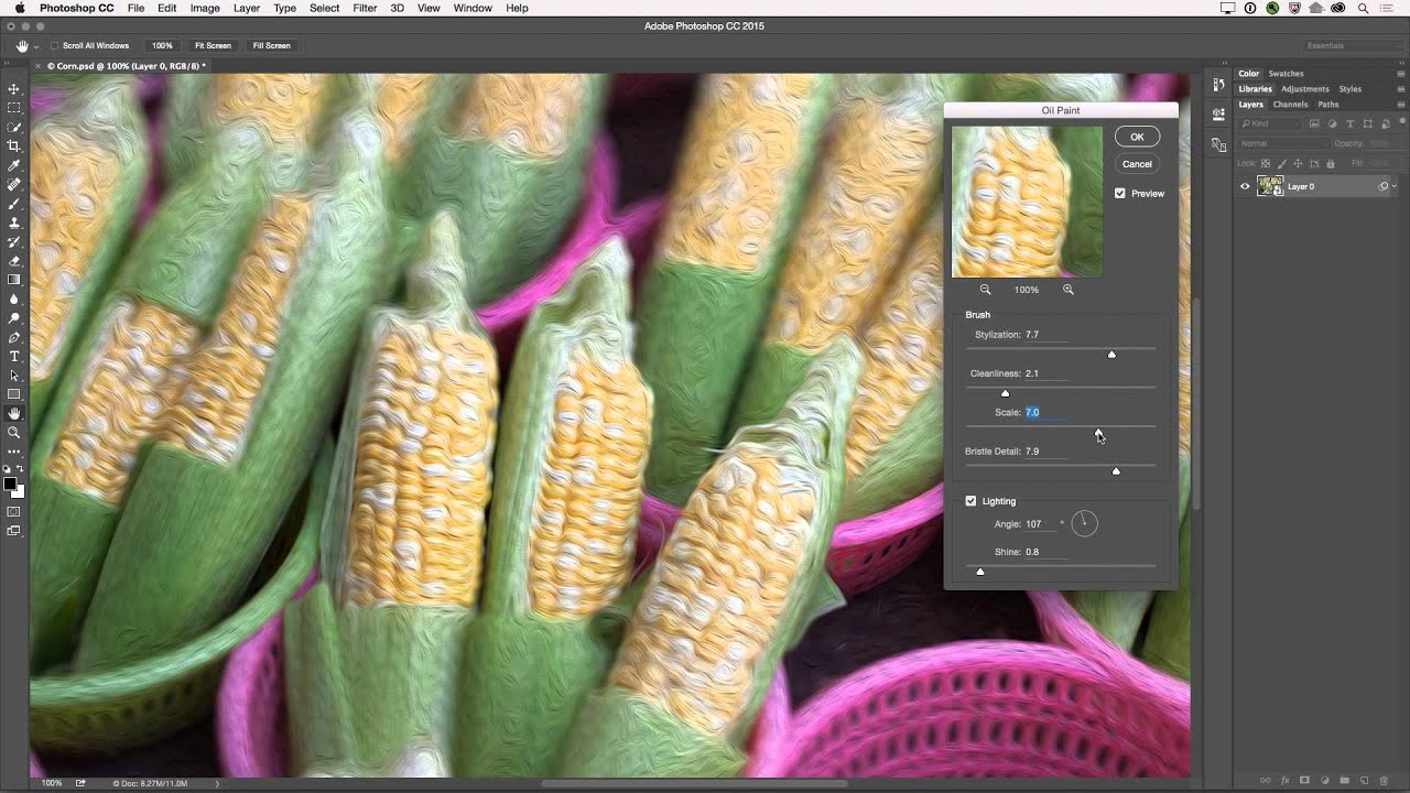 The Oil Paint Filter in Photoshop CC