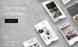 Interior social media template 3043247