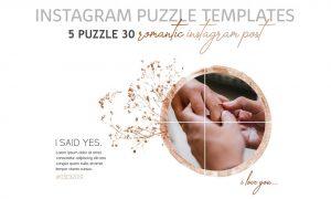 Romantic Instagram Puzzle Templates 3539202