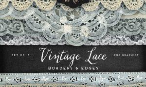 Vintage Lace Borders & Edges 1 12037