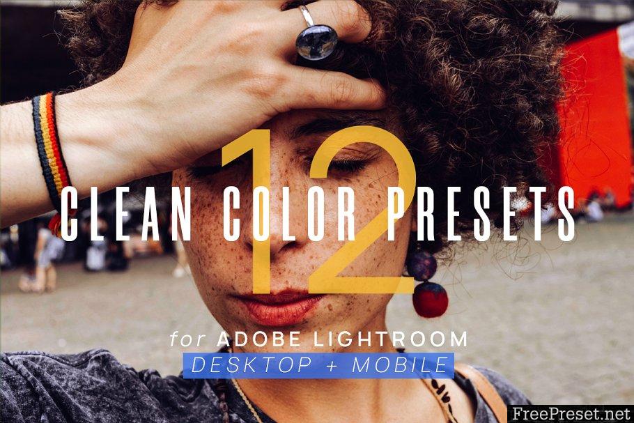 12 Clean Color Presets for Lightroom 3615326