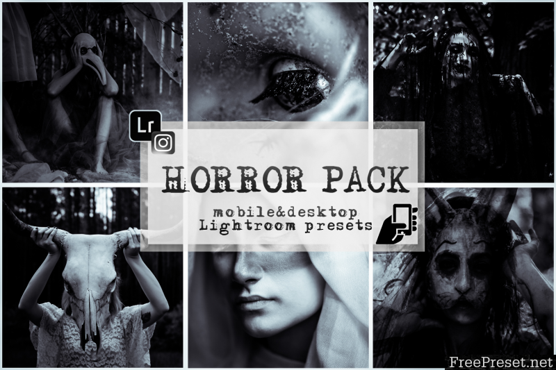 Horror presets lightroo mobile pc dark preset