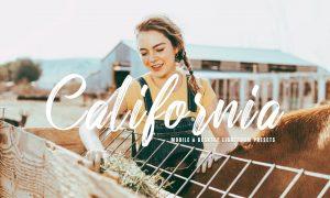California Mobile & Desktop Lightroom Presets PTXB29N