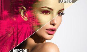 Color Double Exposure Photoshop Action GUF5627