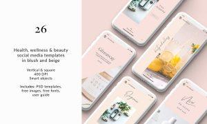 CreativeMarket - 26 Health & Beauty Social Templates 3675587