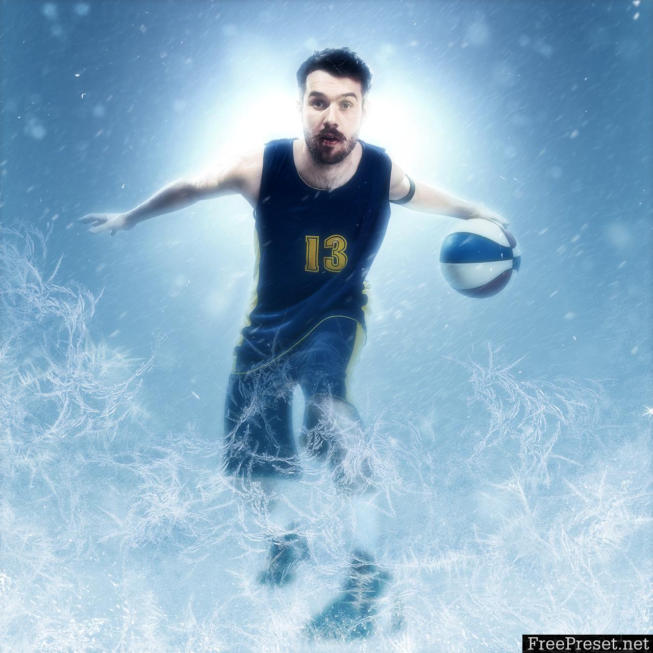Frozen Photoshop Action CS3+ 19409748