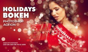 Holidays Bokeh Photoshop Action VP9ZHMQ