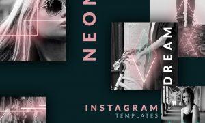 Instagram post templates - Neon 90s 3655162