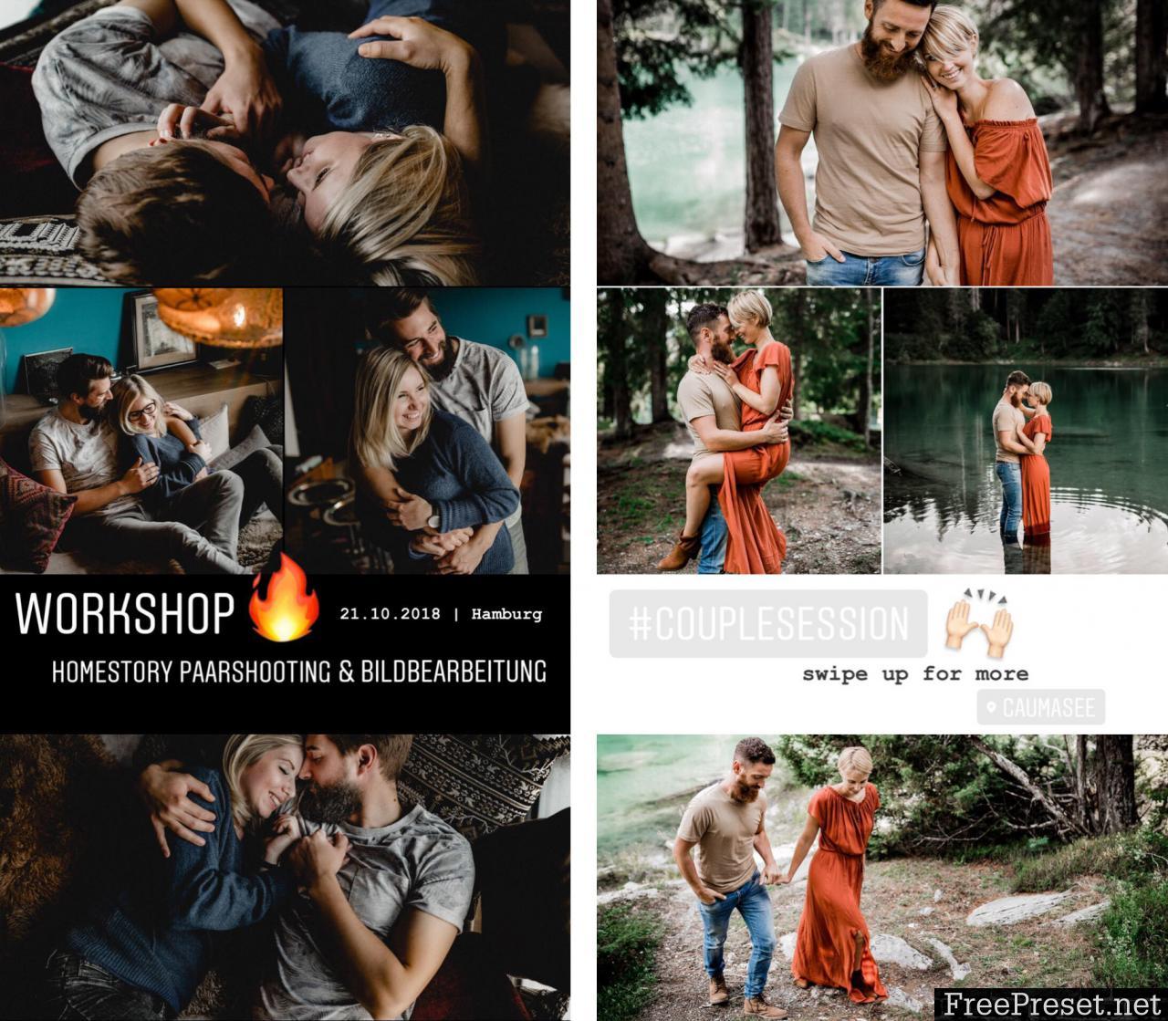 Kathi and Chris - Collagenvorlagen Moodboards 2018 for Adobe Lightroom