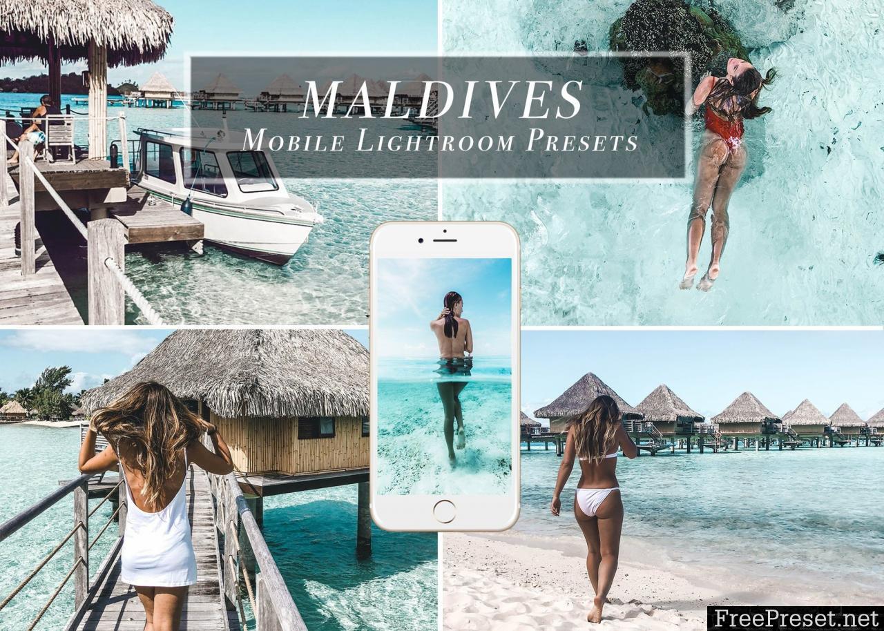 MALDIVES Mobile Lightroom Presets