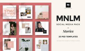 MNML Social Media Pack & Stories 3700035