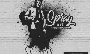 Spray Art Photoshop Action GYCAZE8