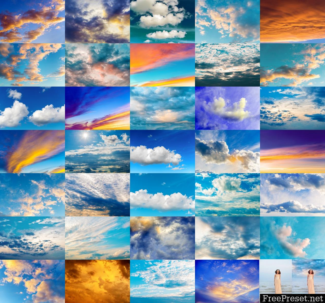 Summerana Skies Overlay and Action Collection