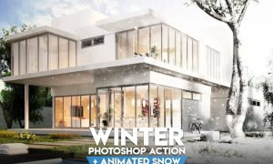 Winter Photoshop Action 52JKDEV