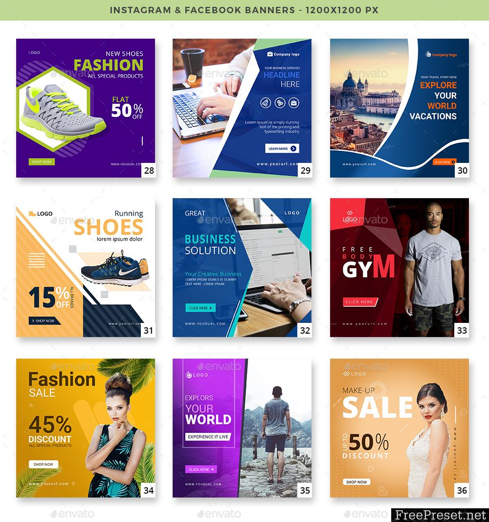 50 Instagram & Facebook Banners 23783819