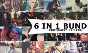 6 IN 1 Photoshop Actions Bundle 3260047