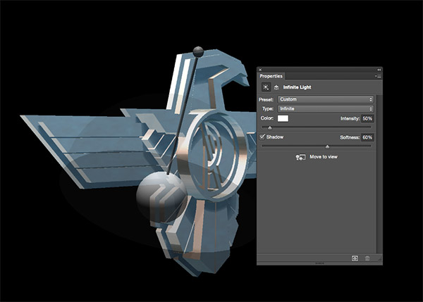 How To Create a 3D Chrome Badge in Photoshop