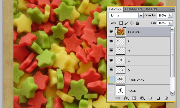 How to Create a Stars Candy Text Effect in Adobe Photoshop 11