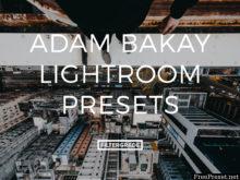 Adam Bakay Lightroom Presets