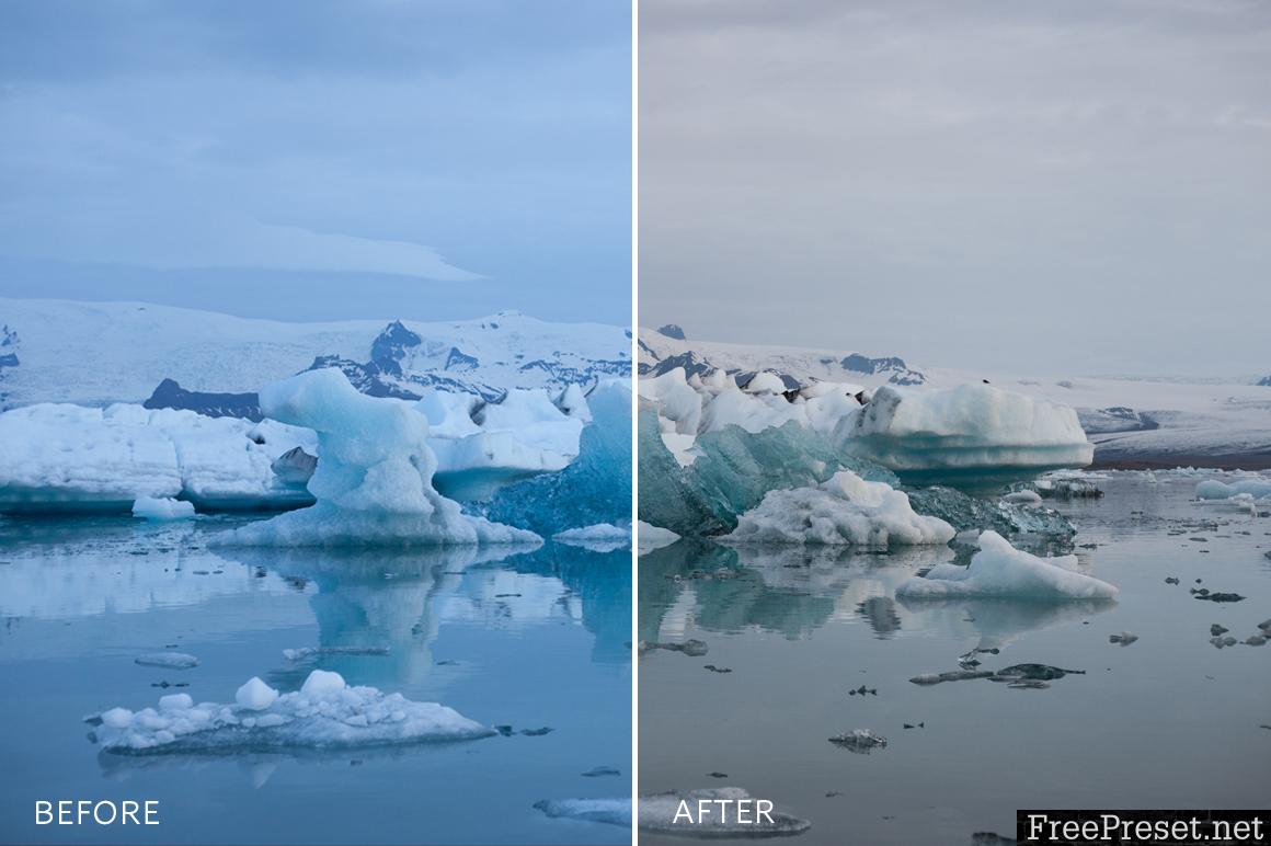 Iceberg Preset Instagram Presets Blogger Presets Mobile Lightroom Presets