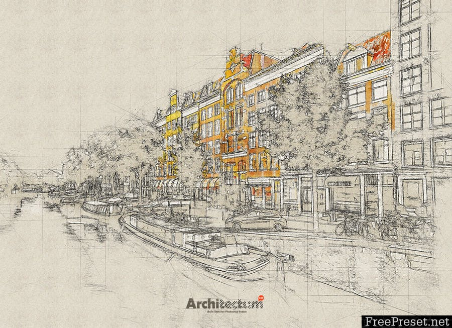 Architectum 3 - Archi Sketcher Photoshop Action XU679B