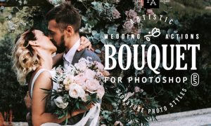 Bouquet Wedding Actions for Photoshop GT92HG