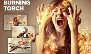 Burning Torch CS4+ Photoshop Action TA8K4HQ