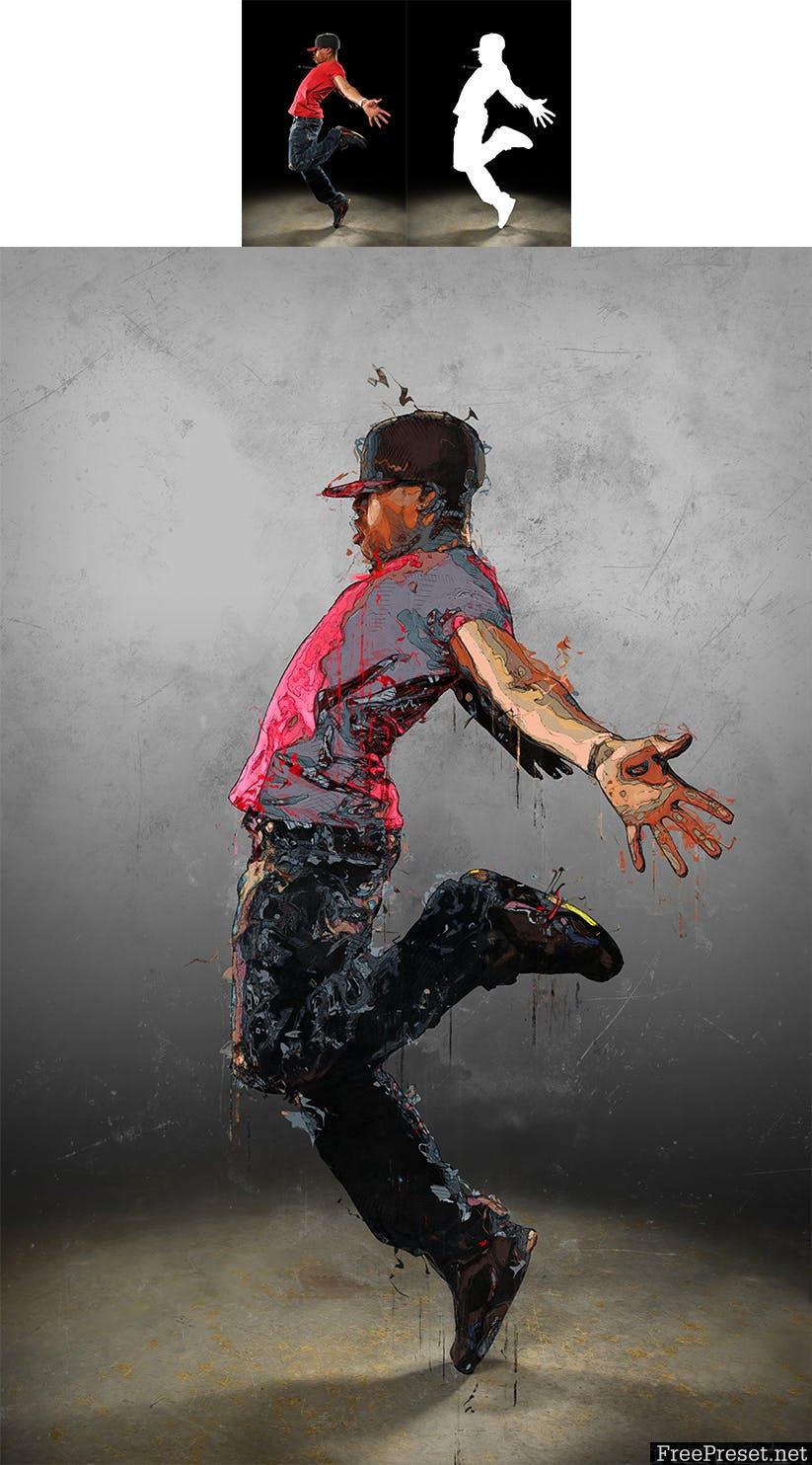 Canvas 2 Photoshop Action RURN49