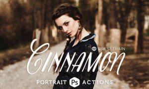 Cinnamon Portrait Actions D93LCS