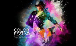 Color Festival Photoshop Action NU737P