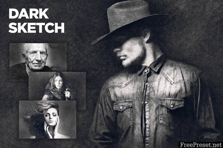 Dark Sketch CS4+ Photoshop Action 5ZMJSE7