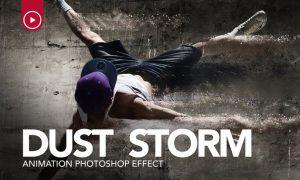 Dust Storm Animation Photoshop Action WA68R5