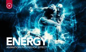 Energy Animation Photoshop Action NMNS77