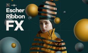 Escher Ribbon FX Photoshop Add-On Extension