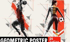 Geometric Poster Photoshop Action X3TQB9Y