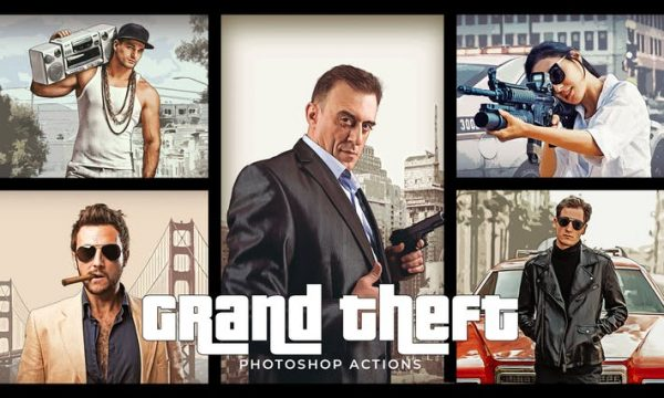 Grand Theft Photoshop Actions 8GG5W9