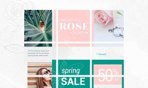 Instagram Puzzle Template - Rose 3606679