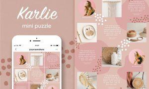 Instagram quotes puzzle template 3745881