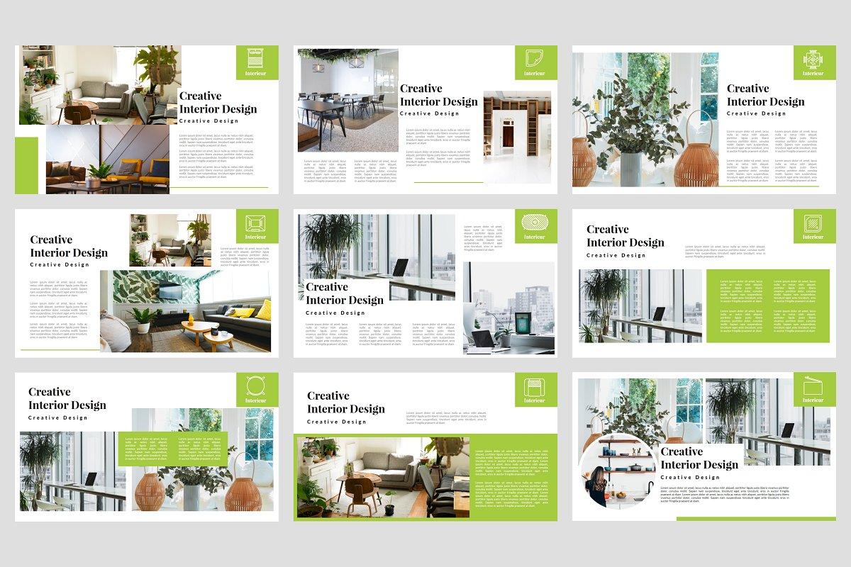 Interieur - Interior PowerPoint 3751549