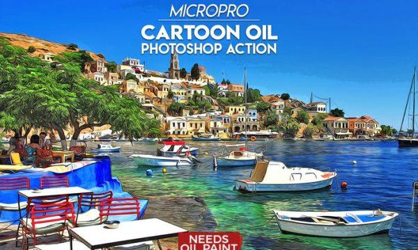 MicroPro Cartoon Oil Photoshop Action V9PHHV