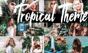 Neo Tropical Theme mobile lightroom presets