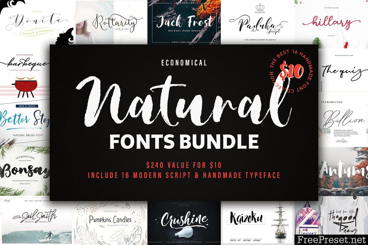 New! Natural Font Bundles 3750908