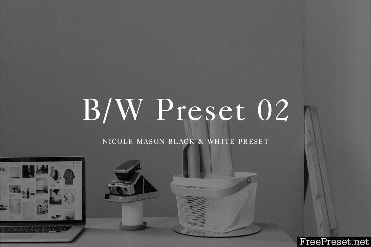 Nicole Mason Photography - Black + White 02 Lightroom Preset