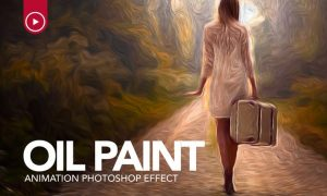 Oil Paint Animation Photoshop Action Y87P46