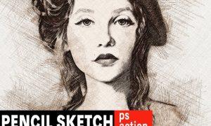 Pencil Sketch Photoshop Action 7PTQRJ