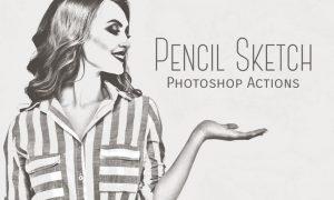 Pencil Sketch Photoshop Actions 35UX67